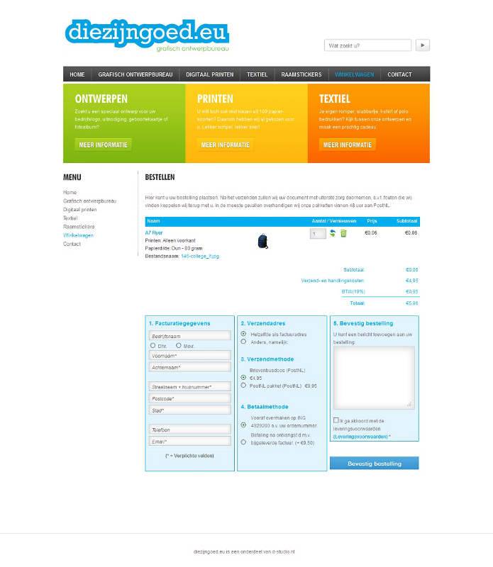 Rupostel One Page Checkout