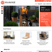 Home page of Wooden wall template