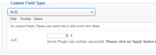 plg alr-step3-assign-custom-field-to-product