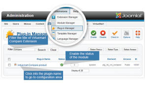 Vm-compare-extension-Enable the status for Virtuemart compare product plug-in